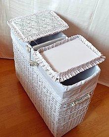 Košíky - Kôš na prádlo s priečkou IVANKA - 8530821_