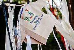 Detské oblečenie - Košieľka na krst pre chlapčeka K15 ľan, výšivka modrá - 8530238_