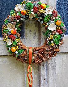 Dekorácie - Jesenný bytelný veniec - 8536368_