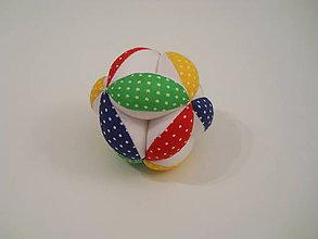 Hračky - Bodkovaná loptička pre bábätko - farebná - 8536433_