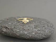 14k zlatý prsteň štvorlístok