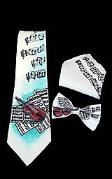 Iné doplnky - Hodvábna súprava-kravata,motýlik,vreckovka-Violine - 8534028_