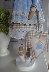 Bábiky - Modrá domčeková  - 8536249_