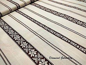 Textil - Bavlnená látka - pásiky hnedé - cena za 10 cm - 8533552_