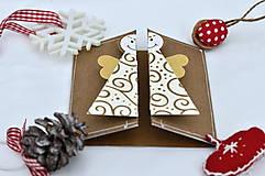 Papiernictvo - Malá vianočná pohľadnica - Anjelik môj - 8536222_