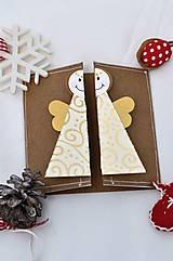 Papiernictvo - Malá vianočná pohľadnica - Anjelik môj - 8536224_