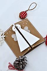 Papiernictvo - Malá vianočná pohľadnica - Anjelik môj - 8536226_