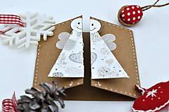 Papiernictvo - Malá vianočná pohľadnica - Anjelik môj - 8536227_