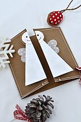 Papiernictvo - Malá vianočná pohľadnica - Anjelik môj - 8536229_