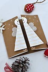 Papiernictvo - Malá vianočná pohľadnica - Anjelik môj - 8536230_