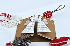 Papiernictvo - Malá vianočná pohľadnica - Anjelik môj - 8536231_