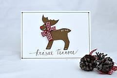 Papiernictvo - Vianočné prianie - Rudolf - 8536256_