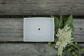 Nádoby - mydelnička porcelánová - 8536028_