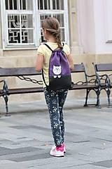 Detské tašky - Batoh mačička PURPLE - 8535938_