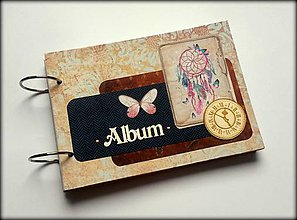 Papiernictvo - Svadobný bohemian scrapbook album/ kniha hostí A5 - 8534490_