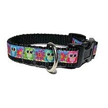 Pre zvieratká - Obojok Little Owls black - 8534026_