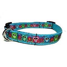 Pre zvieratká - Obojok Little Owls blue - 8534172_