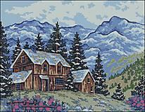 K034 Horská chata - predloha na vyšívanie