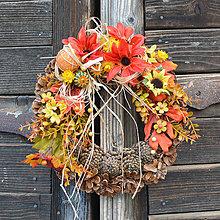 Dekorácie - Jesenný venček na dvere - 8533789_