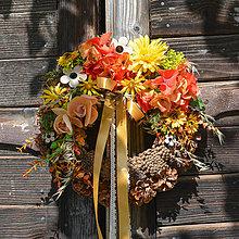 Dekorácie - Jesenný venček na dvere - 8533887_