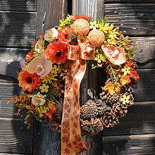 Dekorácie - Jesenný venček na dvere - 8534233_