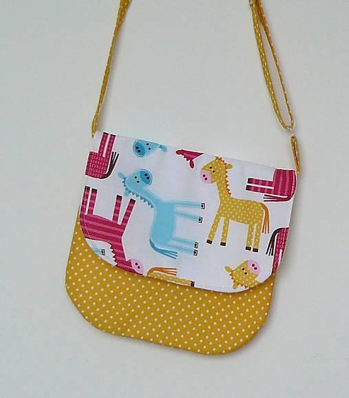 30ee151dca Detská kabelka koníková (žltá)   LEAN - SAShE.sk - Handmade Detské tašky