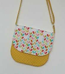 Detské tašky - Detská kabelka srdiečková (žltá) - 8535412_