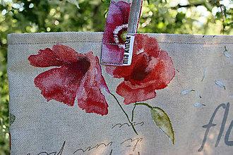 Nákupné tašky - plátená taška Vlčie maky - 8535554_