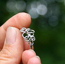 Prstene - Morská pena - strieborný prsteň - 8535687_