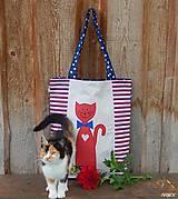 - Nákupná taška - mačička - 8535693_