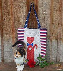 Nákupné tašky - Nákupná taška - mačička - 8535693_