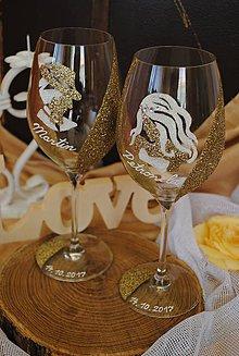 Nádoby - Svadobné poháre - 8537856_
