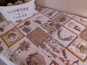 Úžitkový textil - Lavender štola - Vanilla lem - 8537168_
