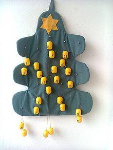 Dekorácie - Adventný kalendár stromček - 8536779_