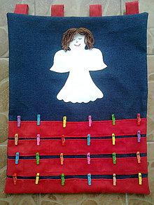 Dekorácie - Adventný kalendár anjelik - 8537833_