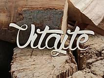 Dekorácie - Výrez Vitajte - 8536588_