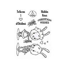 Pomôcky/Nástroje - Silikónové razítka Mistletoe Rabbits - 8539613_