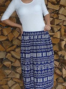Sukne - Sukňa Čičmany na modrej - 8537789_