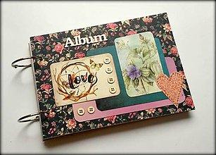 Papiernictvo - Svadobný vintage boho scrapbook  fotoalbum A5 - 8537801_