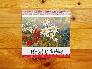 Tabuľky - Obojstranná  tabuľka Hotel U Babky - 8538304_