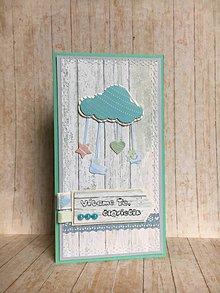 Papiernictvo - Pohľadnica k narodeniu bábätka - Chlapček - 8536812_