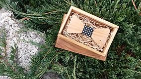 Doplnky - Pánsky drevený motýlik - 8538864_
