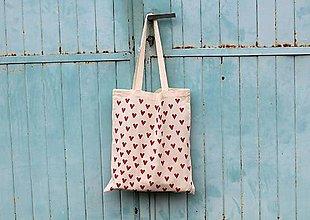 Nákupné tašky - mini srdcovka. - 8537526_
