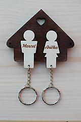 Kľúčenky - Rodinné kľúčenky pre 2 osoby - 8539494_