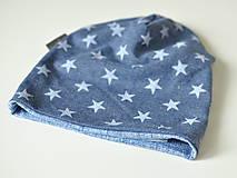 Detské čiapky - detská čiapka HVIEZDY - 8538419_