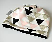 Detské čiapky - detská čiapka trojuholníky - 8538581_