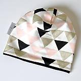 Detské čiapky - detská čiapka trojuholníky - 8538584_