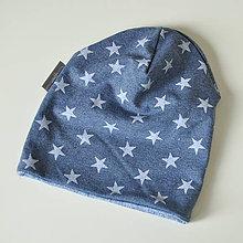 Detské čiapky - detská čiapka HVIEZDY - 8538418_