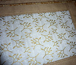 Úžitkový textil - Prestieranie v zlatej. - 8536562_