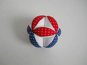 Hračky - Bodkovaná loptička pre bábätko - červeno modrá - 8541531_